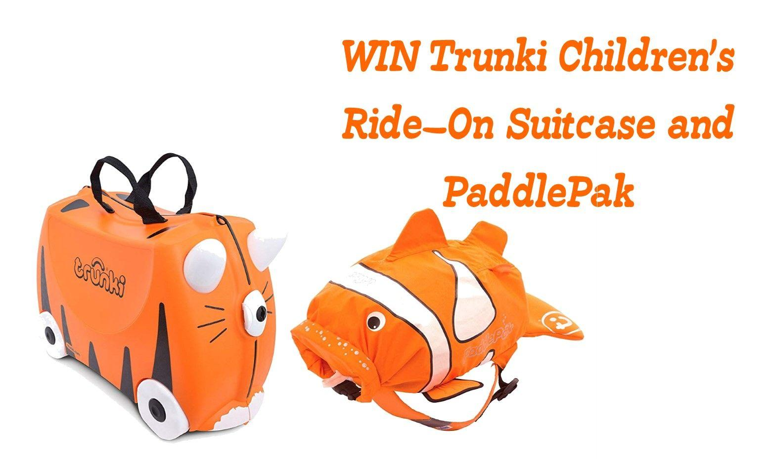 WIN Trunki Children's Ride-On Suitcase and PaddlePak