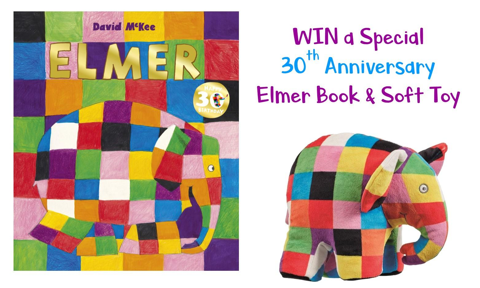 WIN a Special 30th Anniversary Elmer Book and Soft Toy