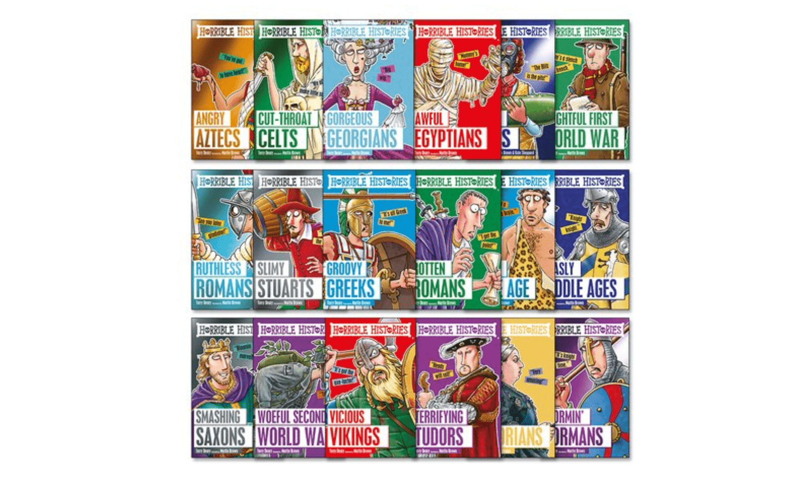 WIN Horrible Histories Classic Pack of 18 Books