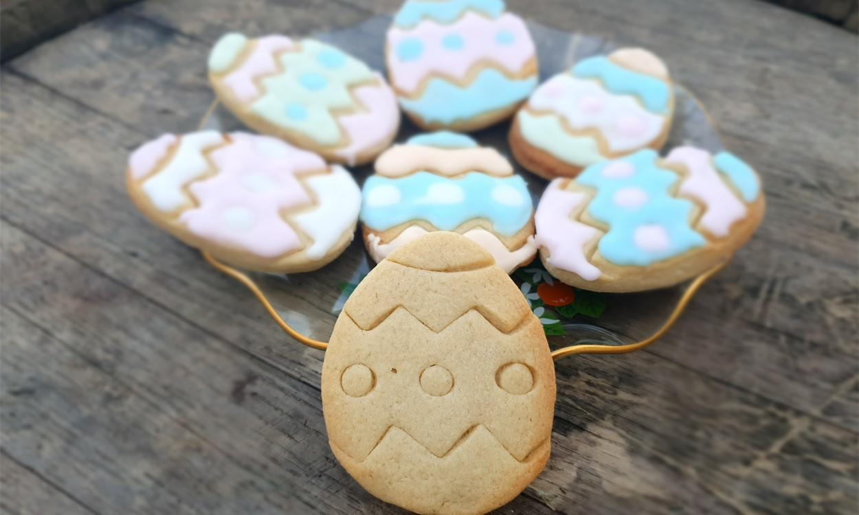 LATEST NEWS Easter Egg Biscuit Recipe close up