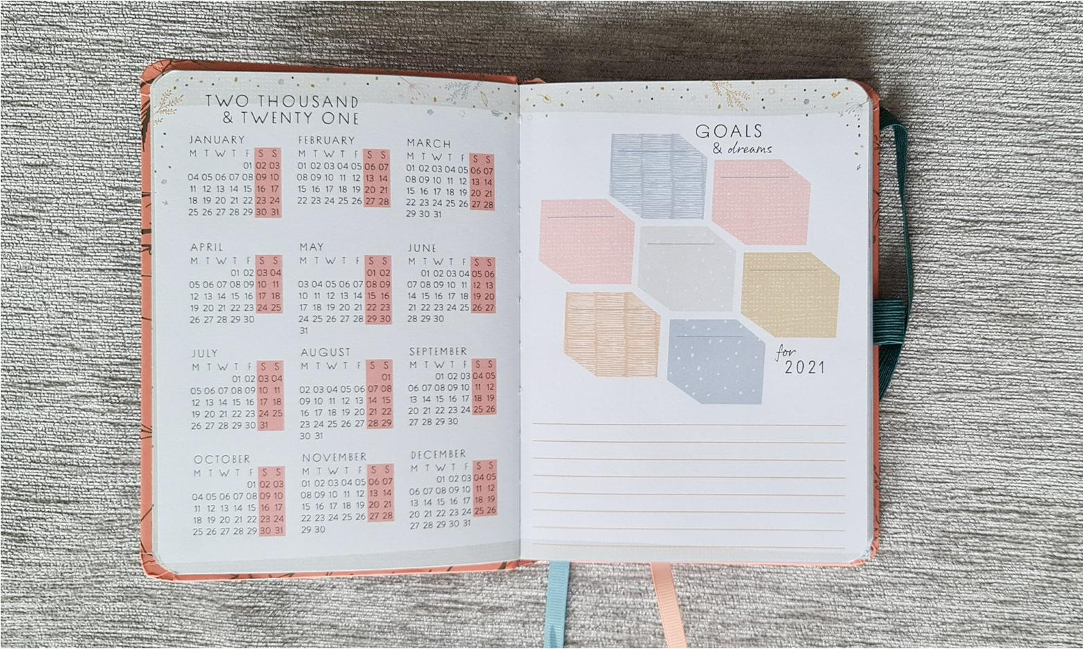 Box Clever Diary Goals