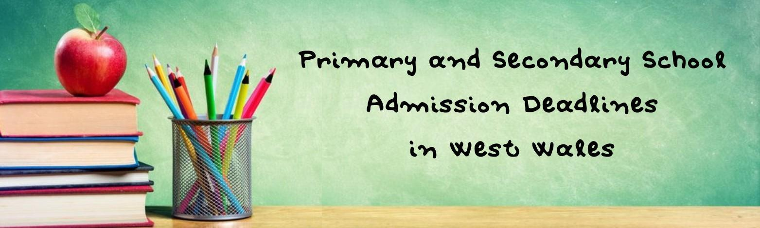 Primary and Secondary School Deadline West Wales Header