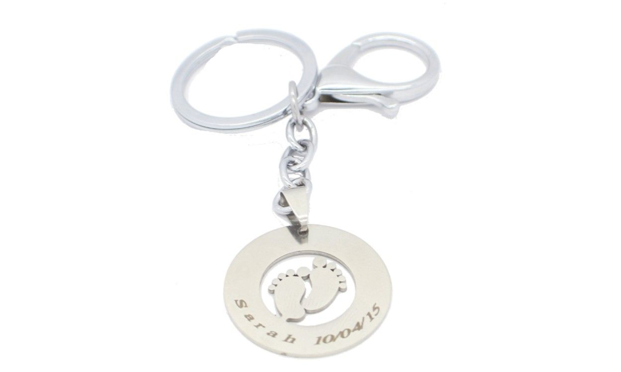 1st Fathers Day personalised keyring