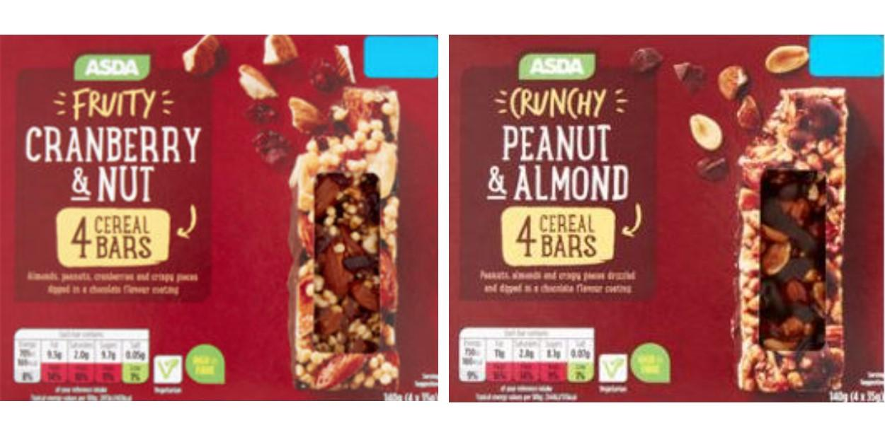 Asda Cereal Bars Recalled