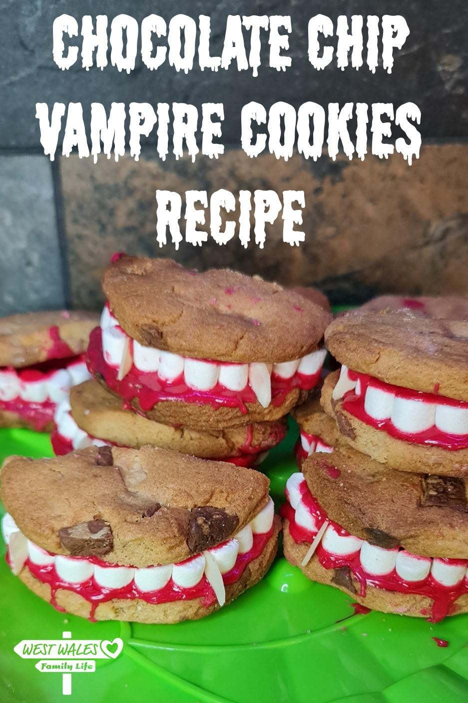Choclate Chip Vampire Cookie Recipe