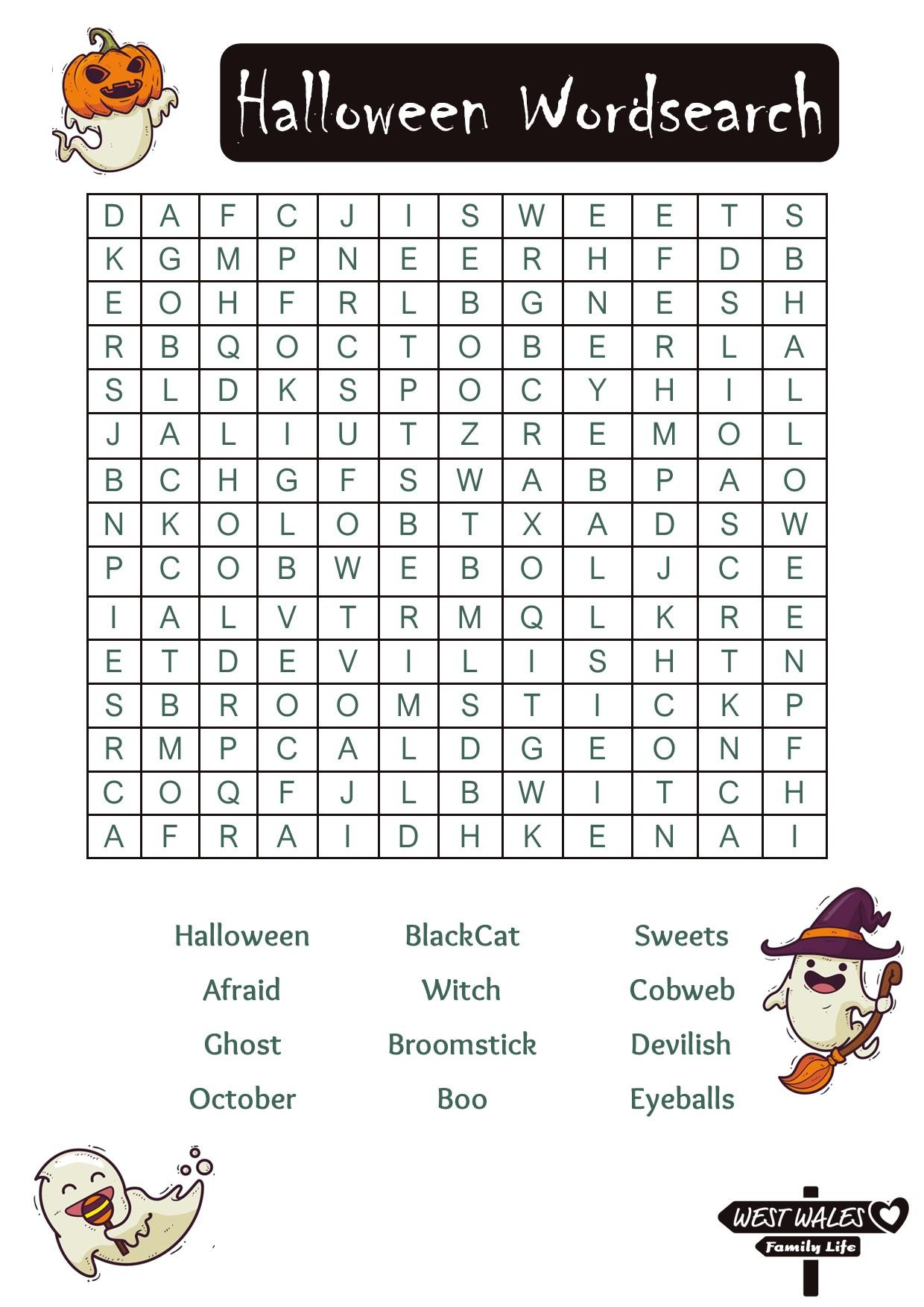 Halloween Wordsearch 1