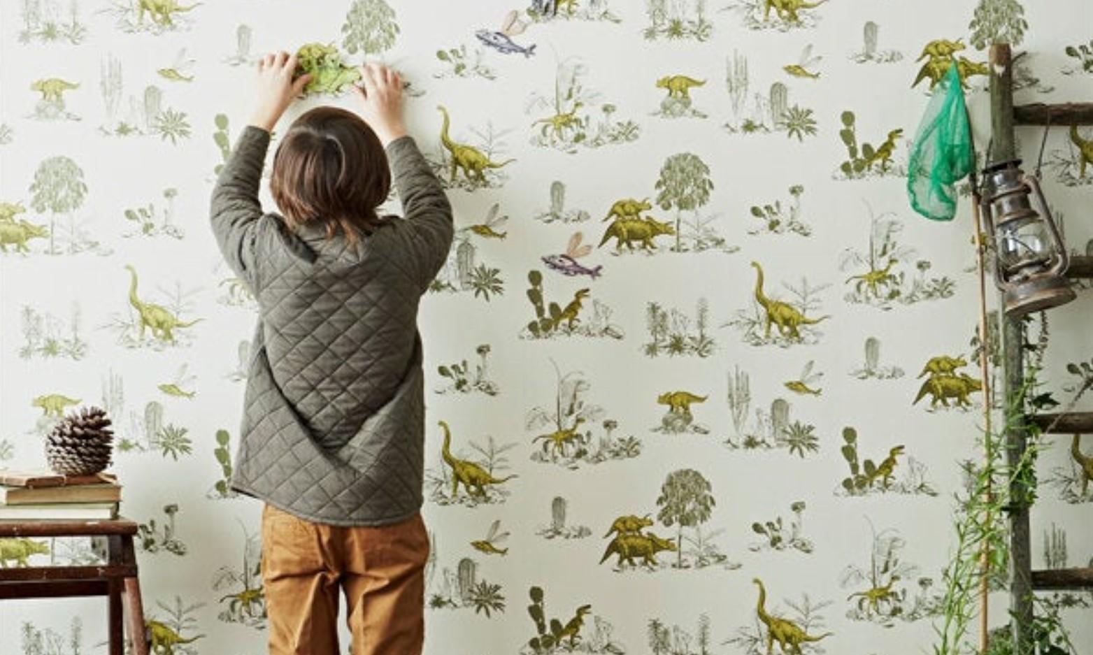 Have you seen the Magnetic Dinosaur Wallpaper That's Won an Etsy Award