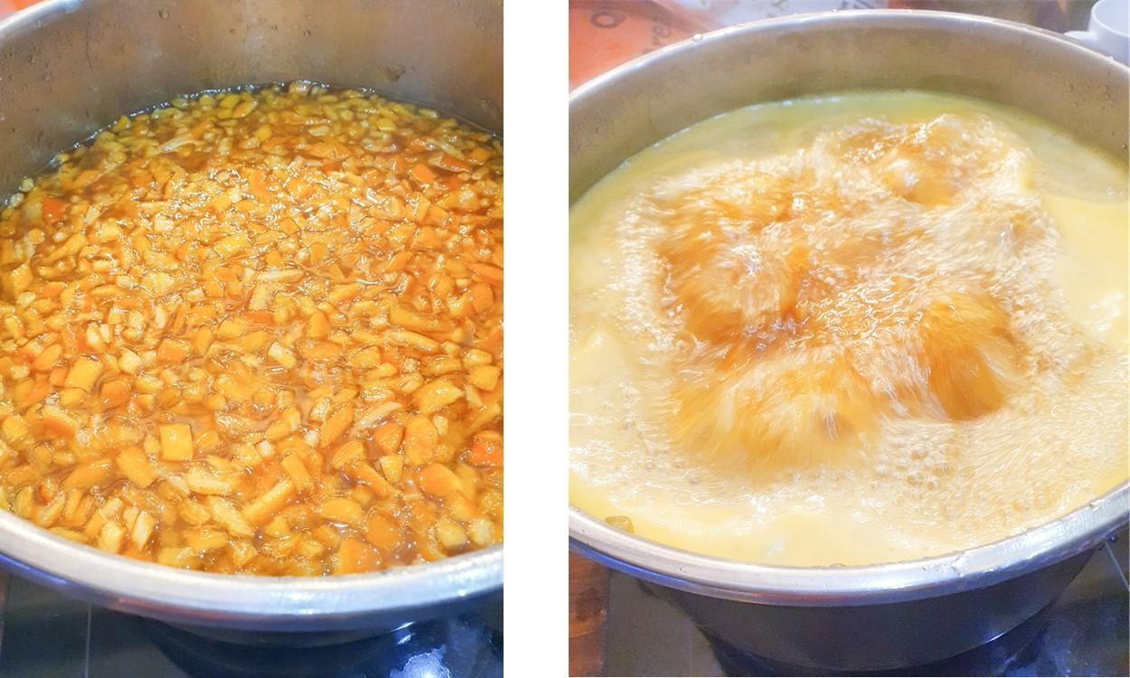 LATEST NEWS Boiling Oranges cut up for Homemade Marmalade