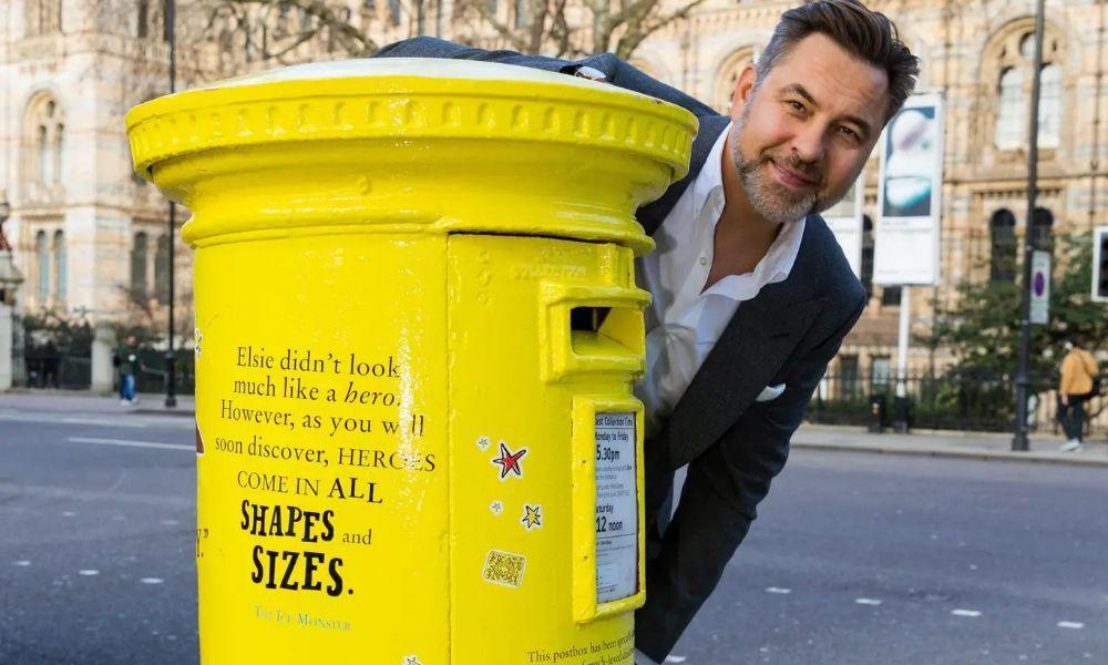 David Walliams Honoured with Bright Yellow Post Box