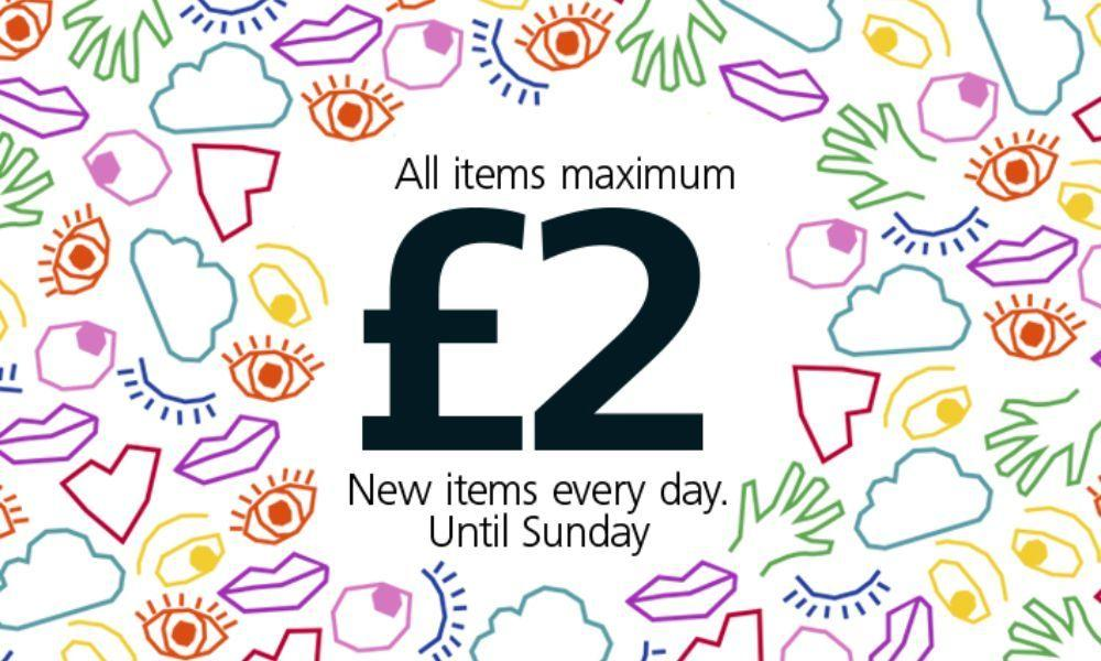 Everything £2 or less in Flying Tiger Stores Until Sunday