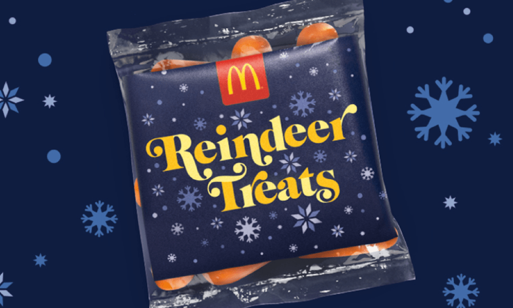 Get Free Bag of Reindeer Treats Today from McDonald's and Create your Reindeer Own Video