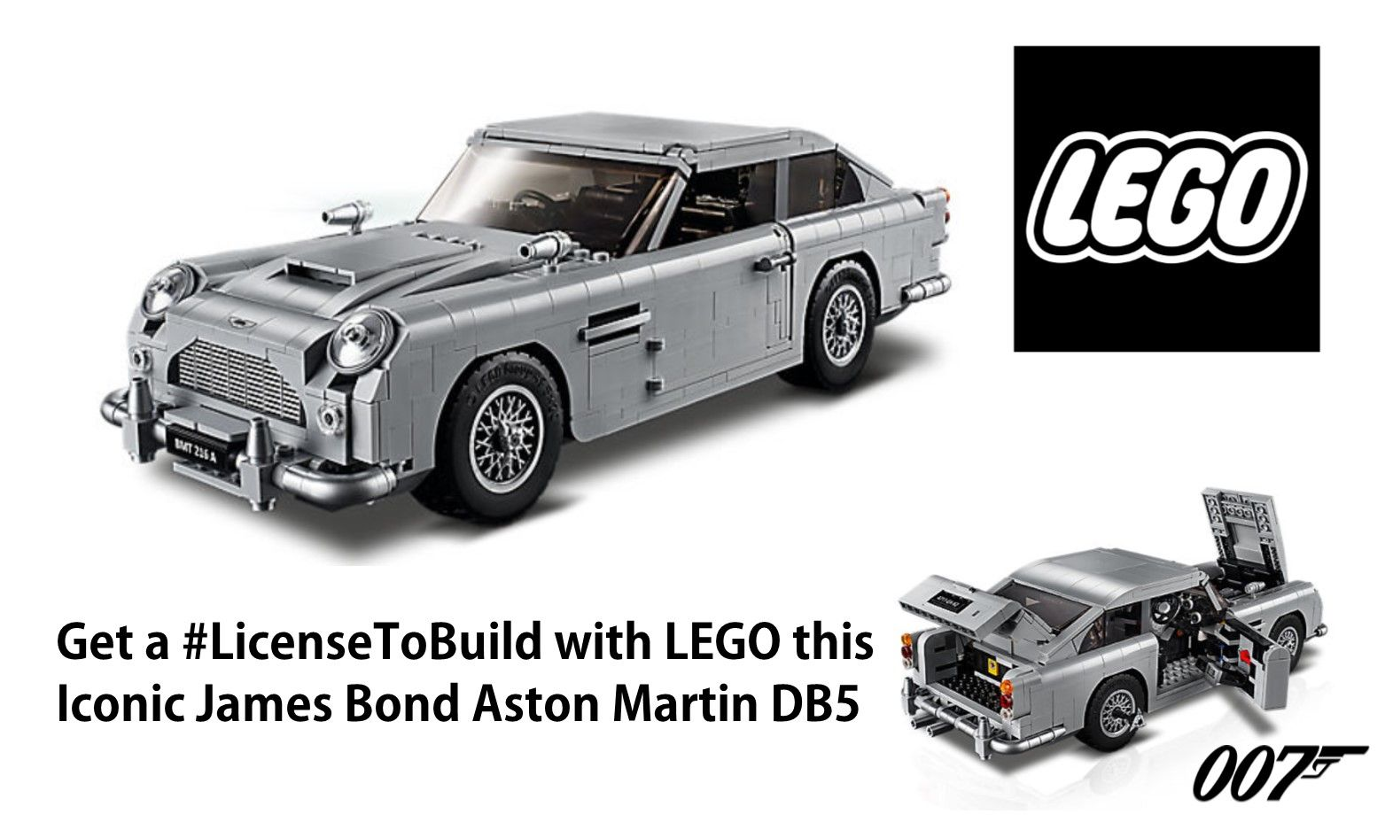New James Bond Aston Martin DB5 Lego on Sale this August