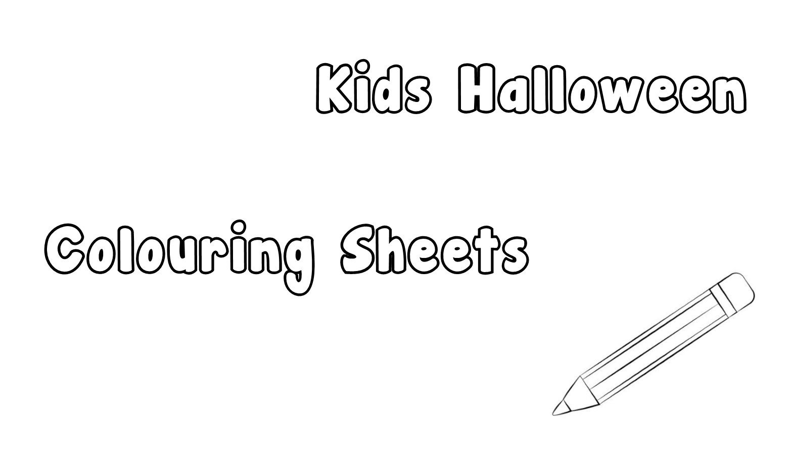Printable Halloween Colouring Sheets for the Kids