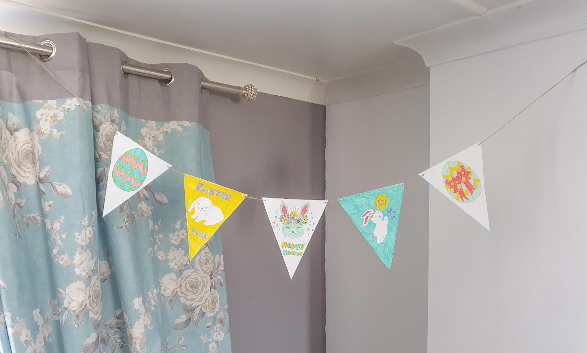 Printable Easter Bunting Template