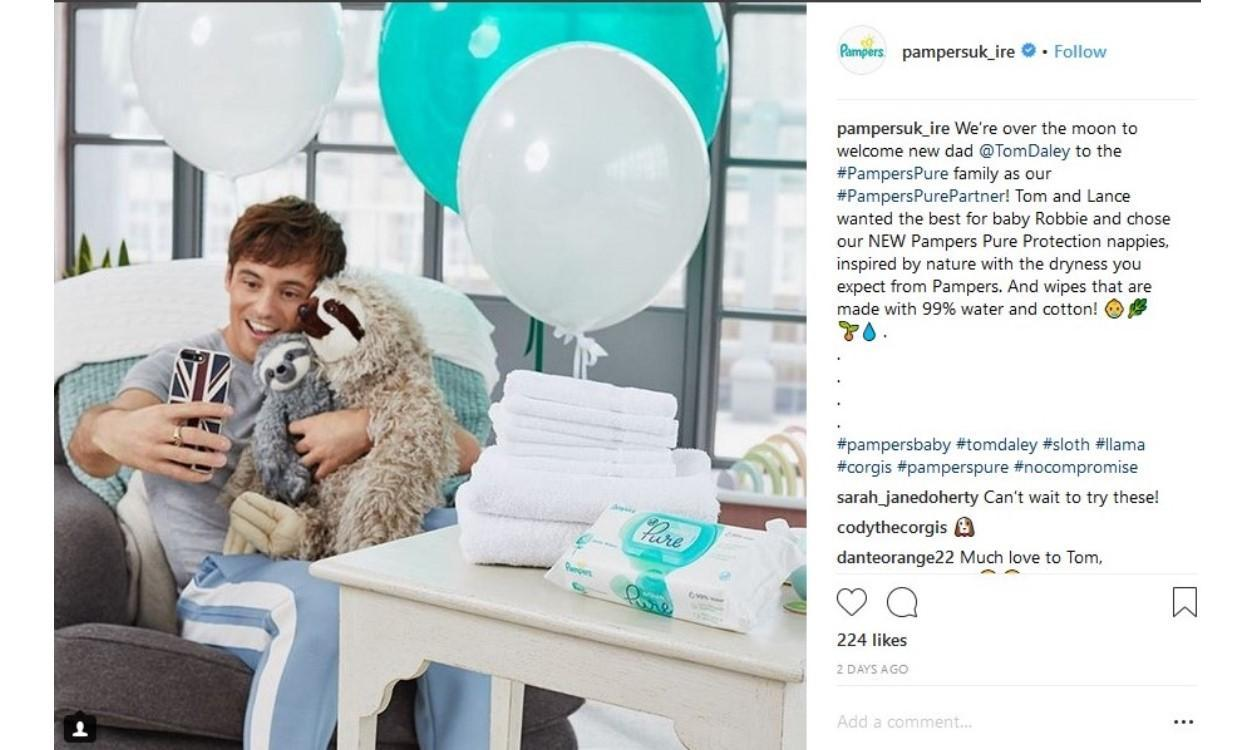 LATEST NEWS Tom Daley Becomes the New Face of Pampers Pure IN ARTICLE 4