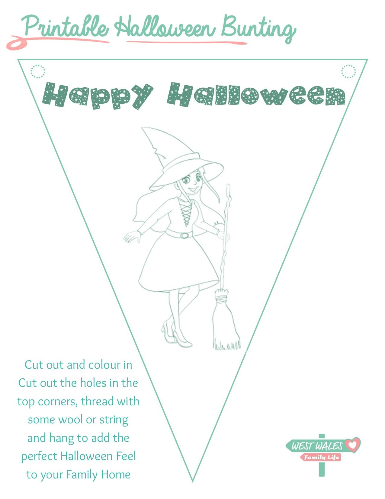 Printable Halloween Bunting 1