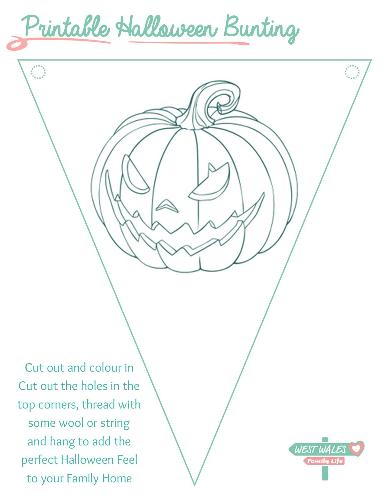 Printable Halloween Bunting 5