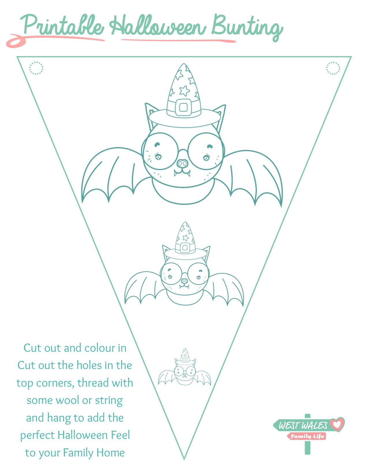Printable Halloween Bunting 7