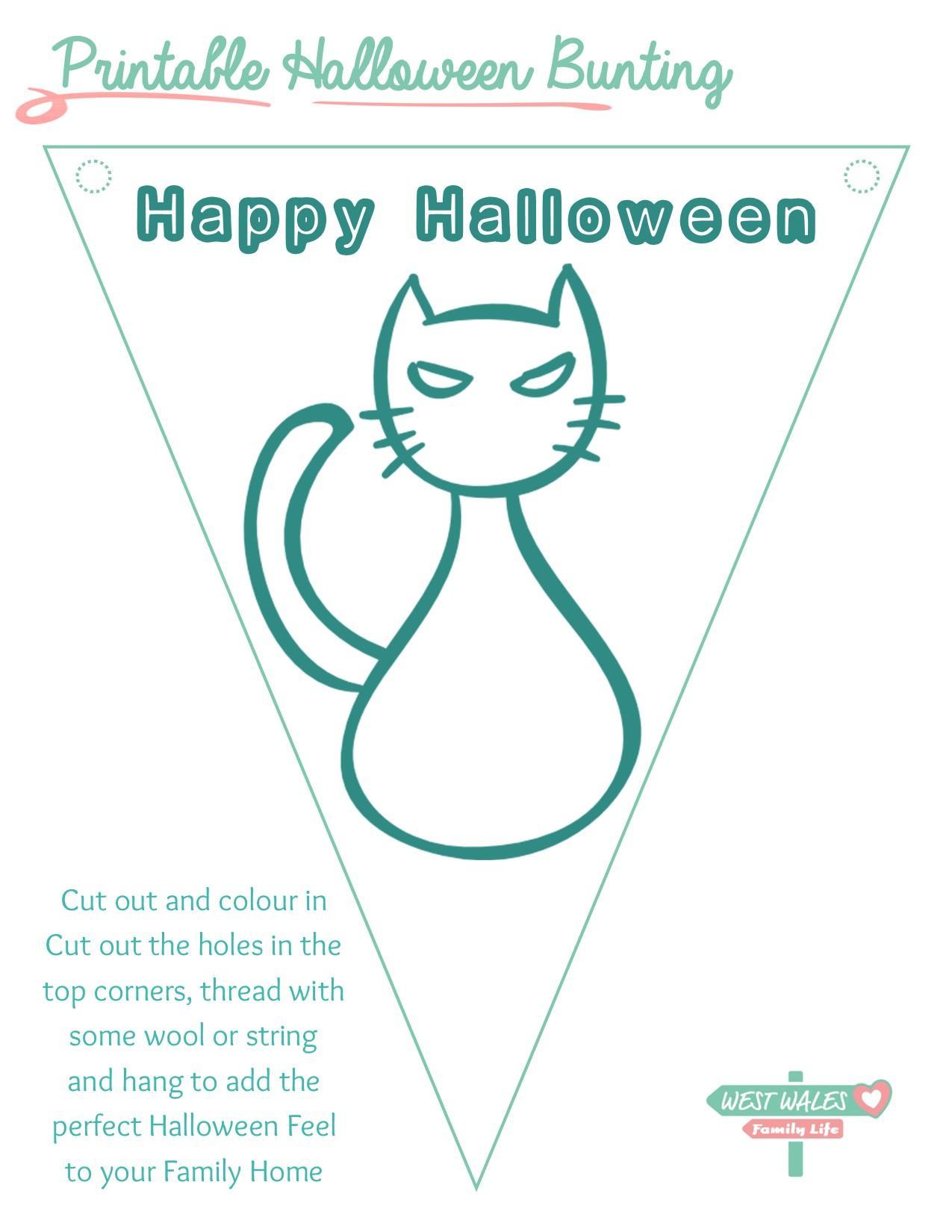 Printable Halloween Bunting 8