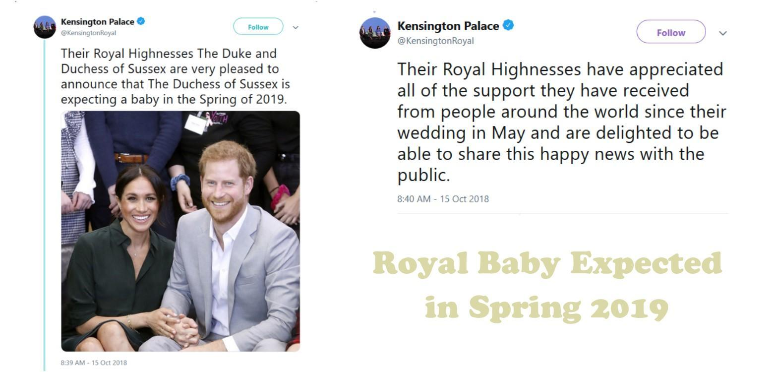 Royal Baby Expected Spring 2019