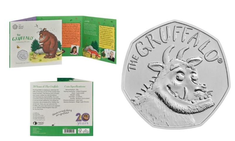 Royal Mint Releases a Gruffalo 50p Coin in article