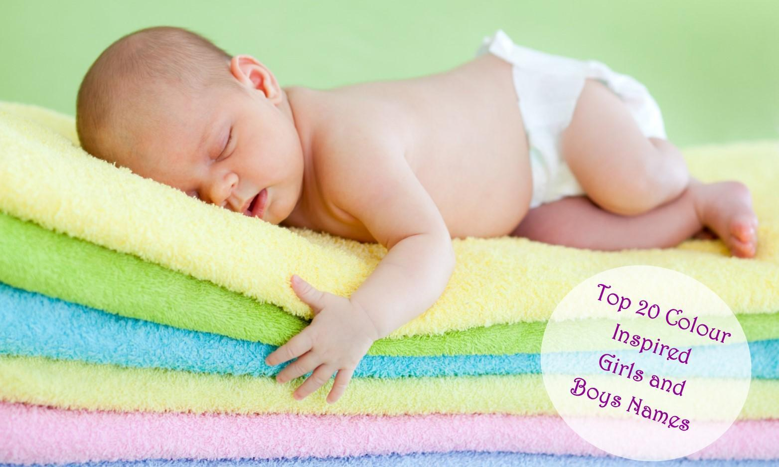Top 20 Colour inspired Girls and Boys Names