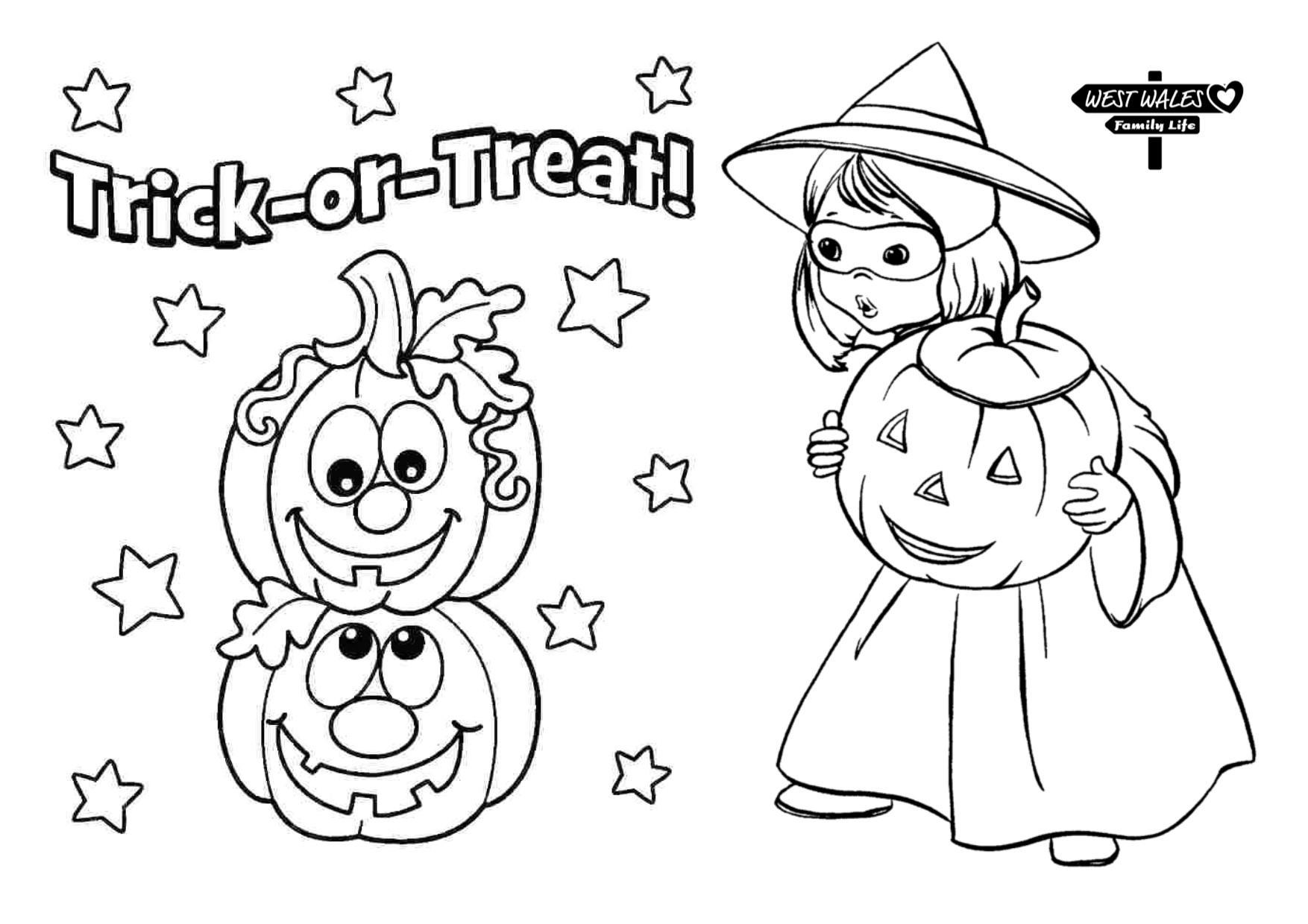 Printable Halloween Colouring Sheets for the Kids - West ...