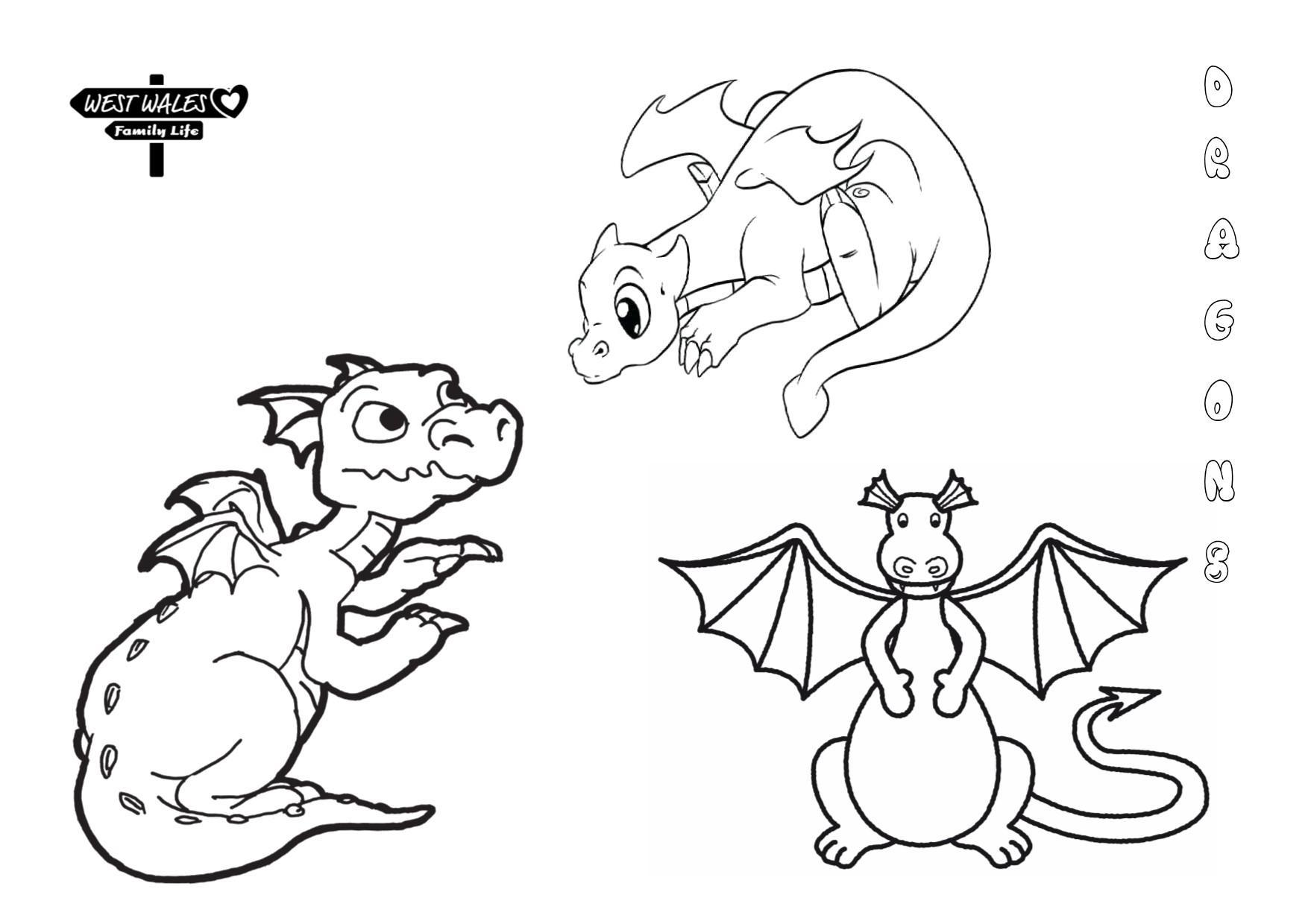 West Wales Family Life Printable St Davids Day Colouring Sheets for the Kids Page 2