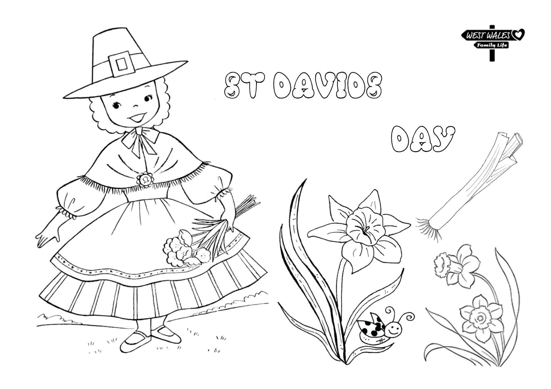 West Wales Family Life Printable St Davids Day Colouring Sheets for the Kids Page 3