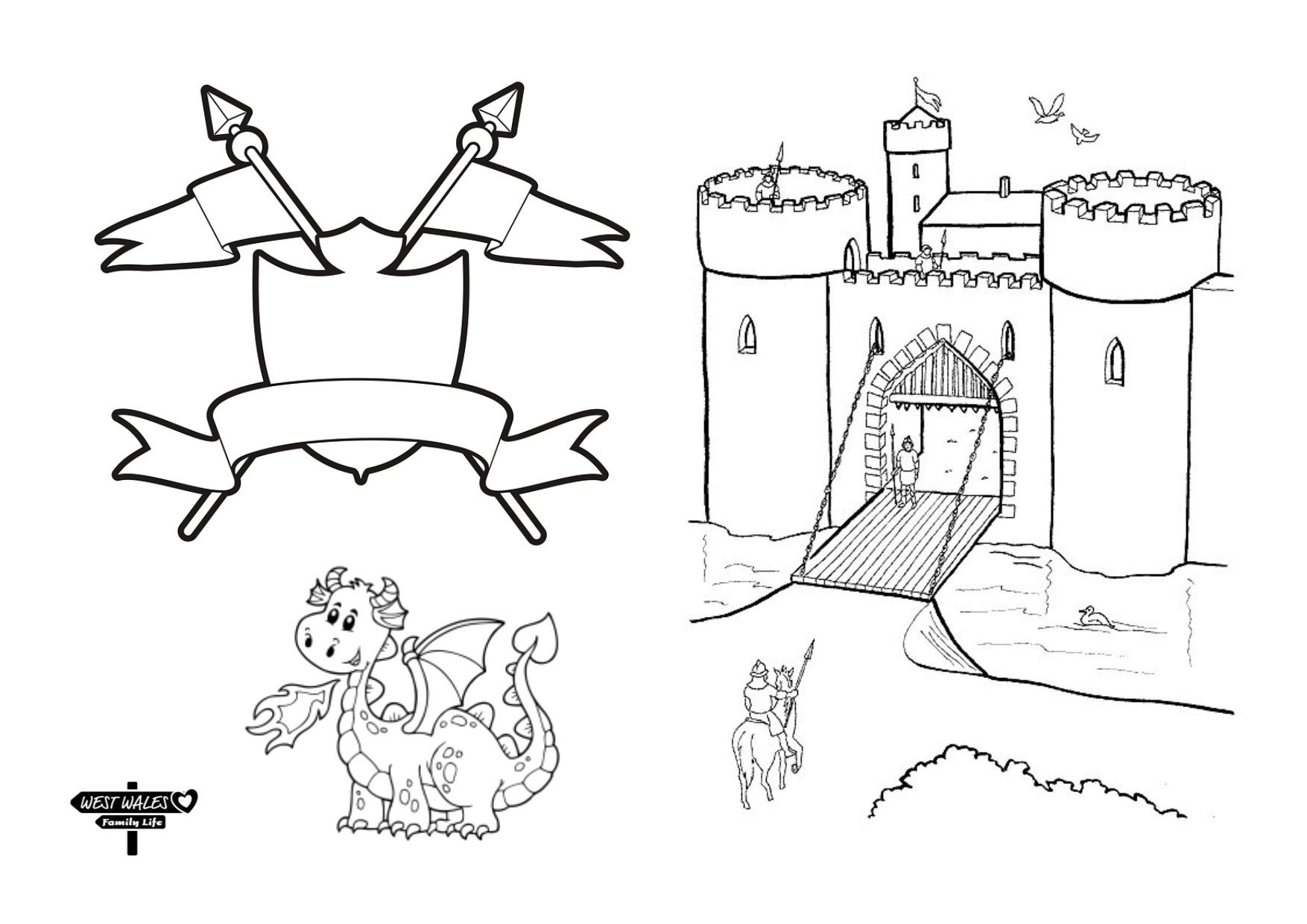 West Wales Family Life Printable St Davids Day Colouring Sheets for the Kids Page 5