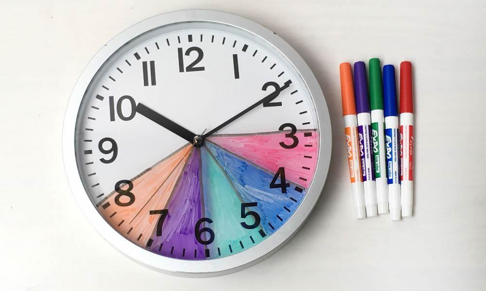 Make your own After School Routine Clock