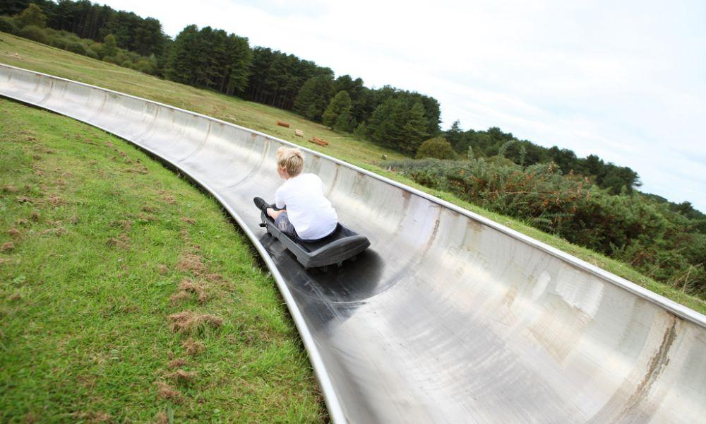 Tobogganing at Pembrey Carmarthenshire
