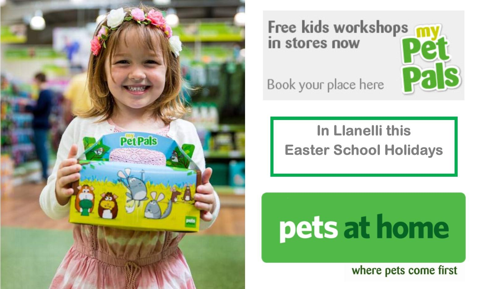 Easter Small Furries workshop at Pets at Home Llanelli Store