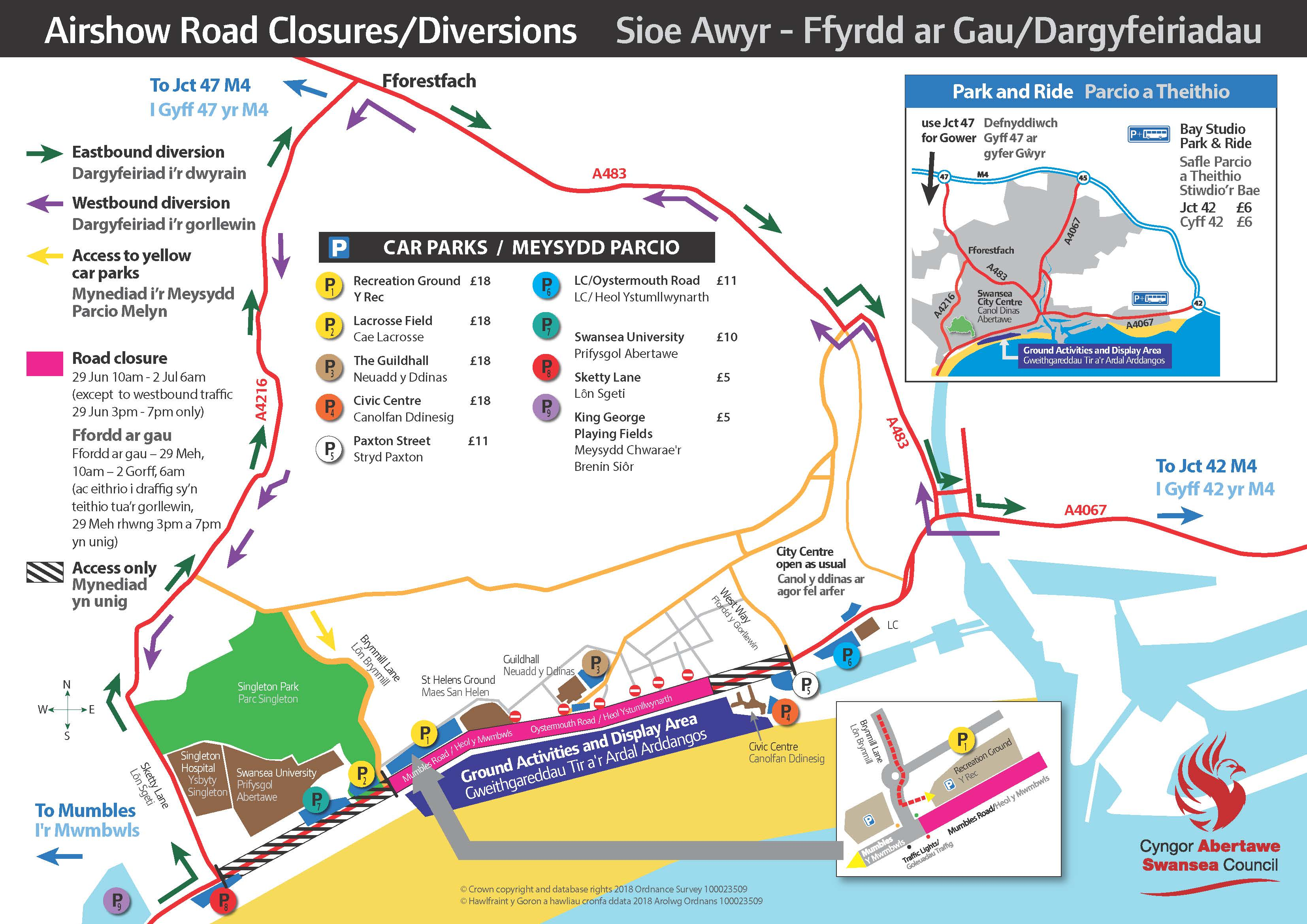 Swansea Airshow Parking Info 2018 min