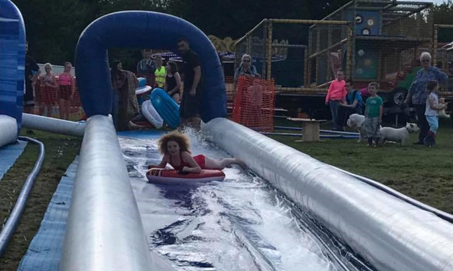 Slip and Slide at Gnoll Park