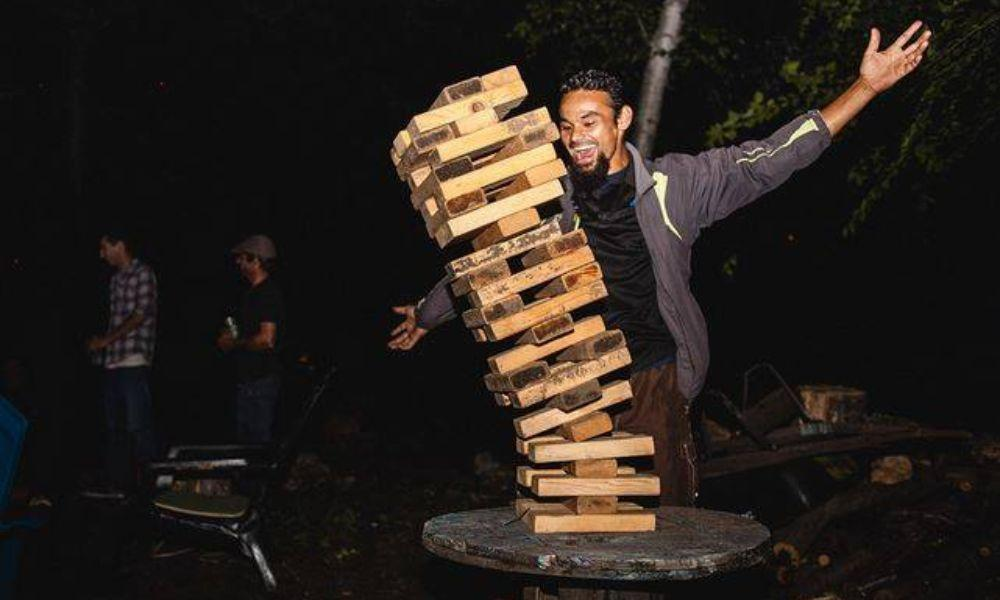 Giant Jenga Tournament in Gower