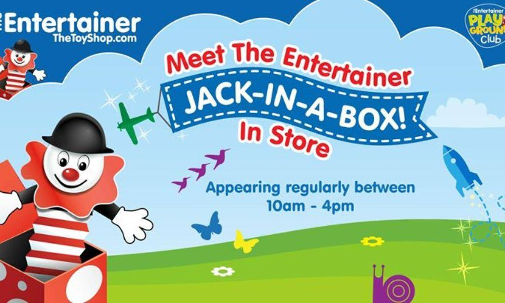 Meet Jack In the Box at The Entertainer Port Talbot