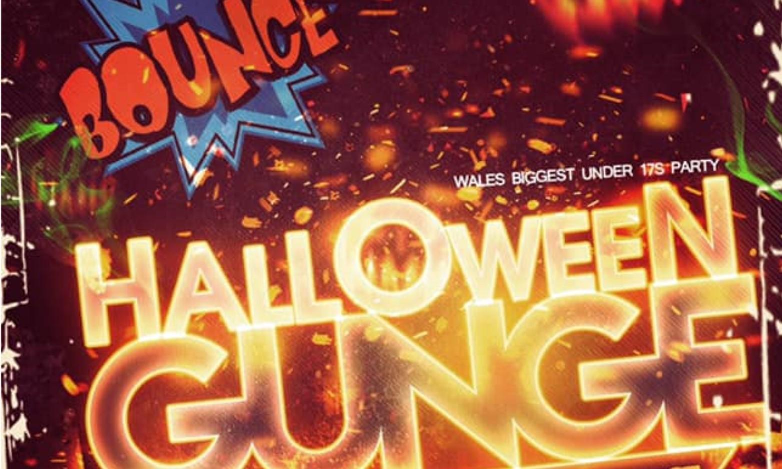 Bounce Under 17's Halloween with Gunge Tank Party