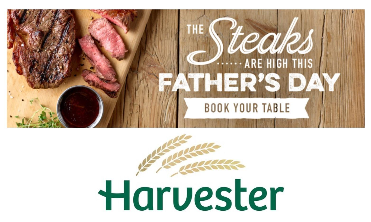Dad Eats Free at Harvester in Carmarthen