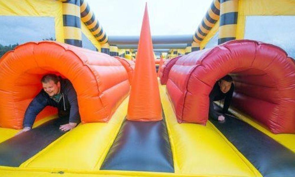 Aberavon Candy Inflatable Run Family Day