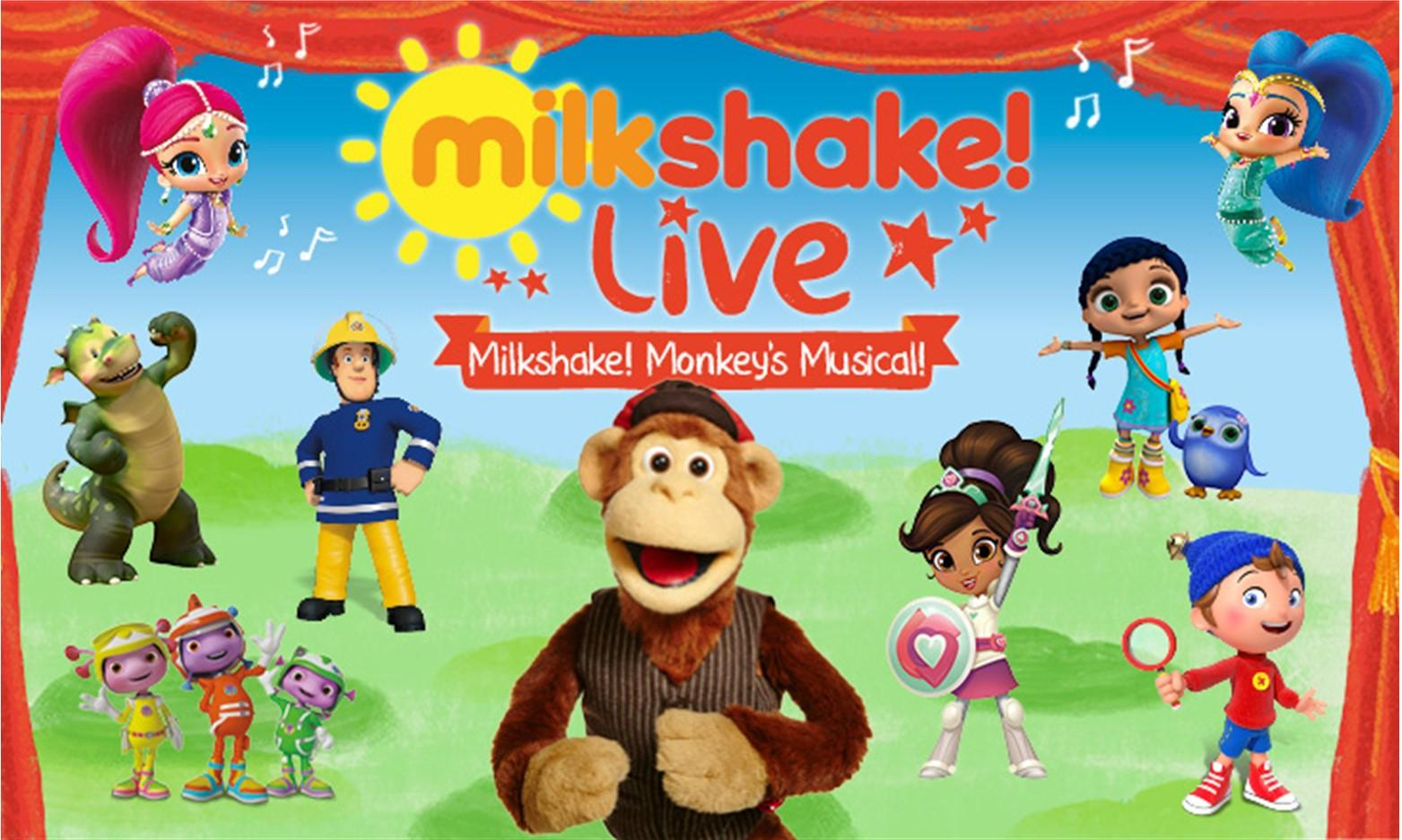 Milkshake Live - Monkey's Musical at Princess Royal Theatre