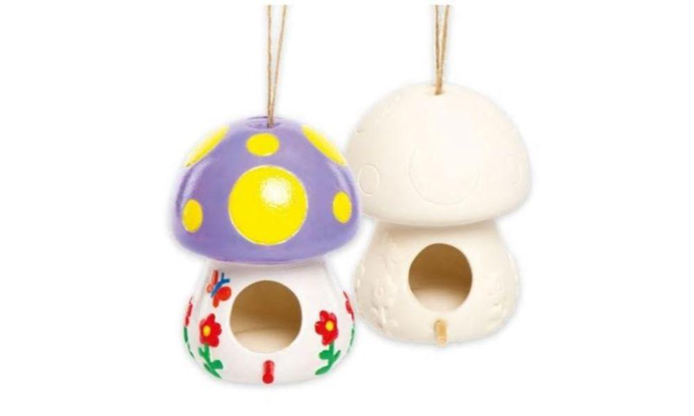 Paint a Toadstool Bird Feeder at Welsh Wildlife Centre