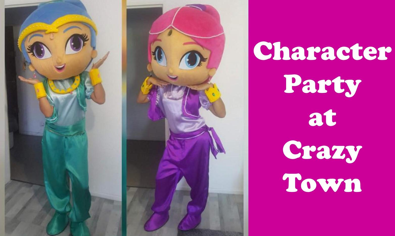 Character Party at Crazy Town