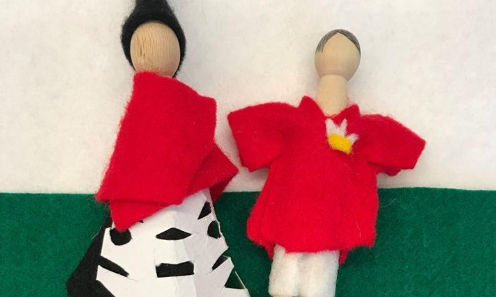 Make your own peg Welsh Lady or Wales Rugby Player
