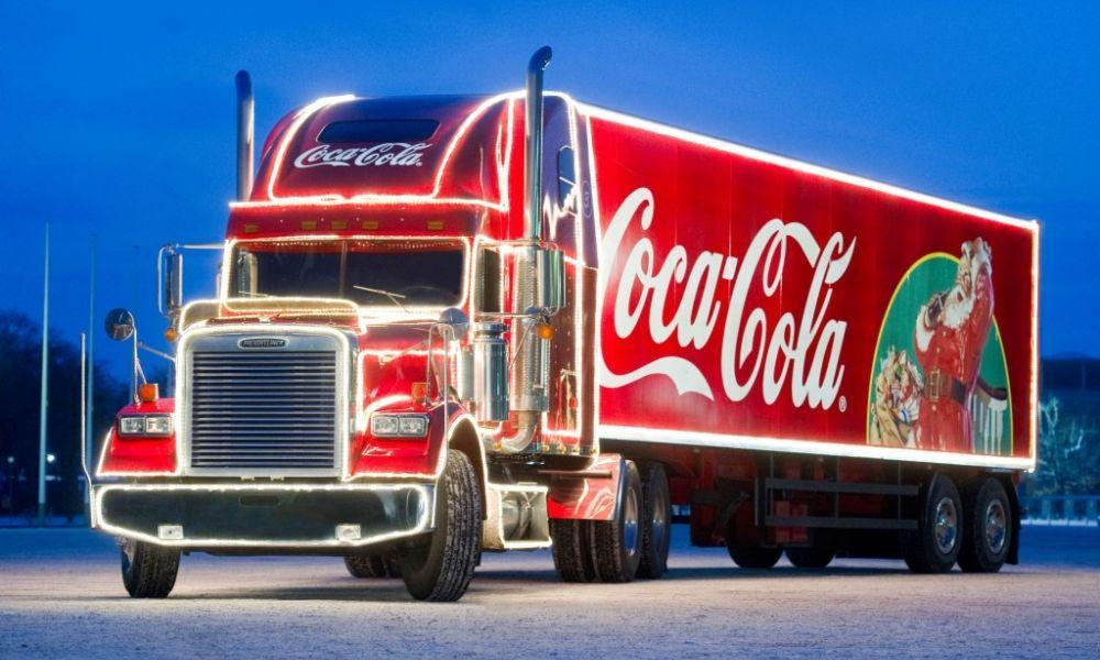 The Coca-Cola Christmas Truck Visits Swansea