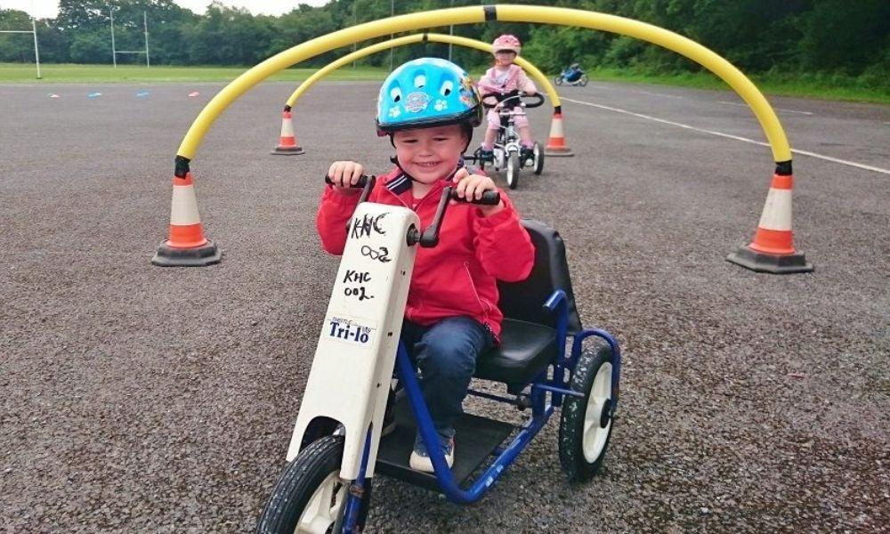 Tots on Tyres at Bikeability Wales
