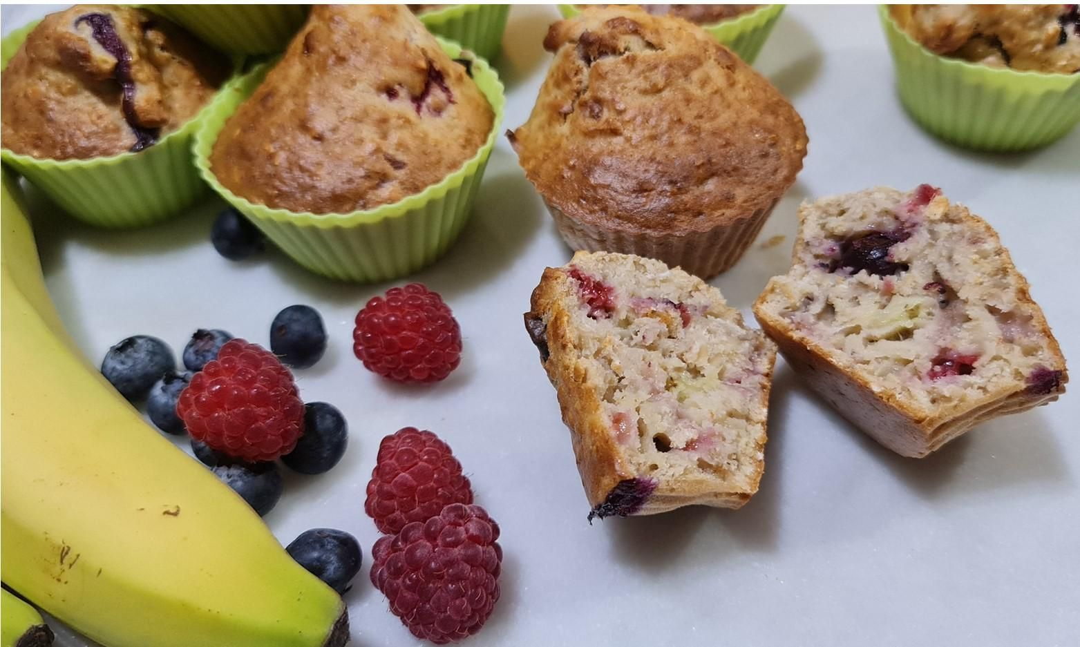 Nadiya Hussain's Very Berry Breakfast Muffins Recipe