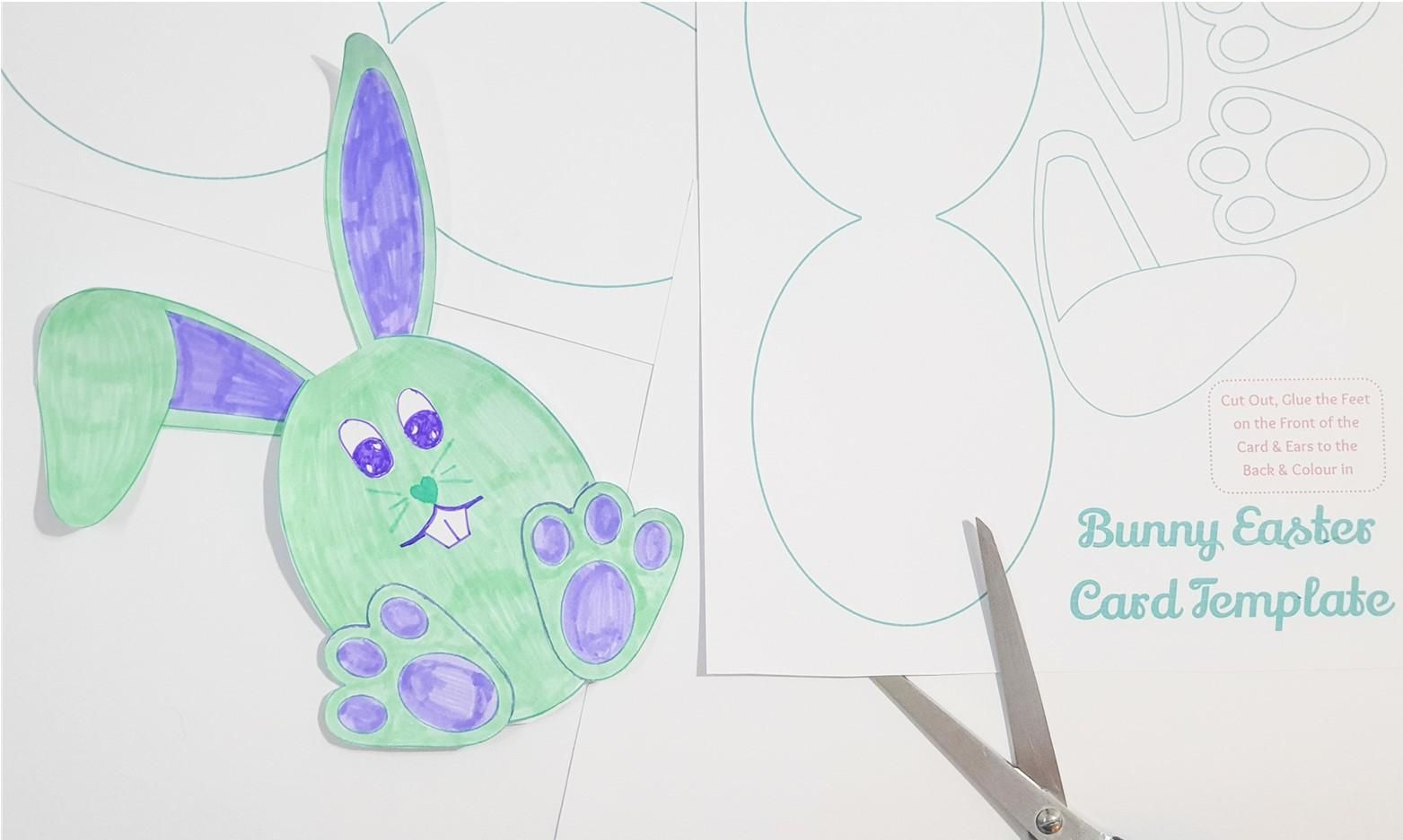 Printable Easter Bunny Card Template