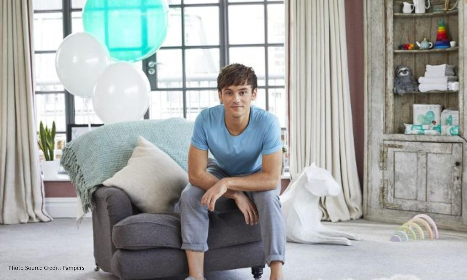Tom Daley Becomes the New Face of Pampers Pure